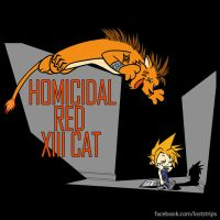 Homicidal Red Xiii Cat by loststrips