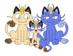 The Meowth Family by ToonSkribblez