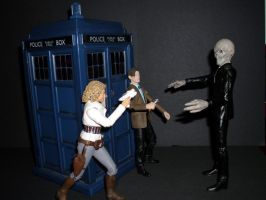 Silence at the TARDIS by CyberDrone
