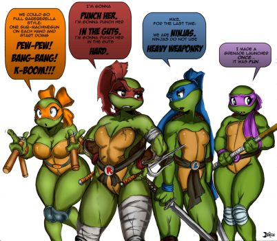 GS Mutant Ninja Turtles by Oddmachine