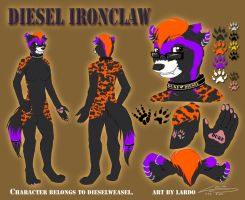 Diesel Ironclaw Ref Sheet by T-Ingles