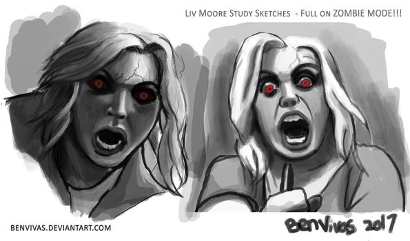 Liv Moore Drawings for Fun :D by benvivas
