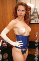 Autumn in Blue Corset 2 by bound-nicole-babe78