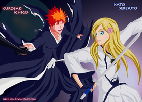 .: Commission - Ichigo vs Seresuto :. by Tsukineesan