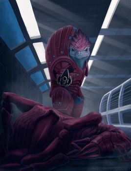 Wrex || Andromeda Series Commision # 7 by wizjer