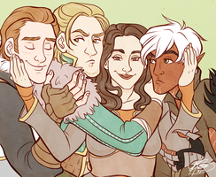 Hawke And Her Boyfriends by naomi-makes-art73