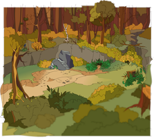 Thunderclan Forest Camp by Nifty-senpai