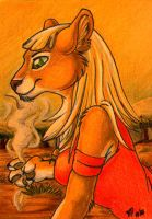 ACEO: Olven by RaikaDeLaNoche