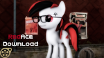 Red Ace Download ( glasses included ) by RedAceOfSpades