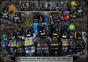 LEGO Batmen. Dark Knights and Caped Crusaders. by Catanas192