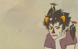 Wallpaper - Karkat Vantas by jessiejazz