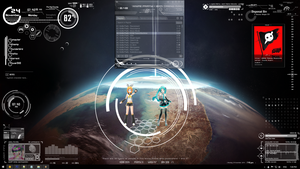 Vocaloid Dancers 1.0 For Rainmeter by bluetekk