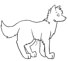 Canine lineart -Paint friendly by puzzncl0ve