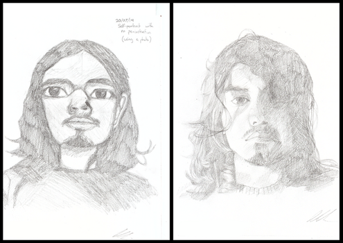 Before and After: Self-portrait Improvement by calponpon