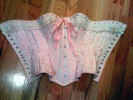 Pink 1880s corset by BettyValentine