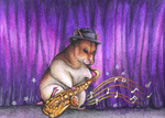Dweasel the Jazz Hamster by Bluepisces97
