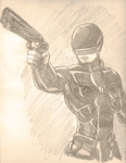 Robocop 2014 Drawing by Odin787