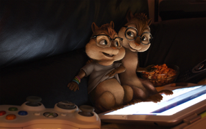Simon and Felix by Duiker