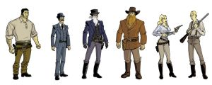 Western Character Sketches 2 by dennisculver