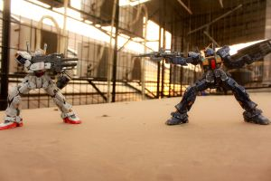 Gundam Mk-II Rooftop Photo Test 7 by HiroyRaind