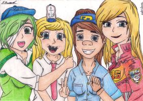 Genderbend Group Photo~ (Colour) by Eimie1