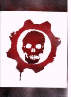 Gears of War Symbol Stencil by DMSpray