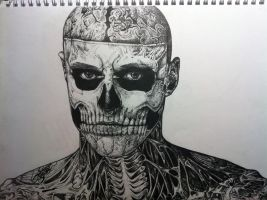 Rick Genest the Zombie Boy by Hyaxin