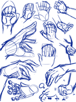 Hand References/Sketches by PrincessNeugets