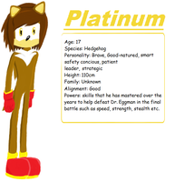 Platinum the hedgehog profile by The-Blonde-Nerd
