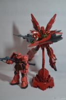 Zaku + Sinanju by angelprisz
