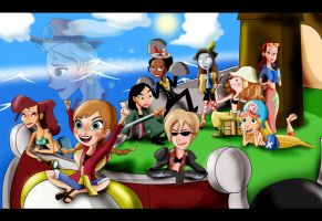 Disney Princesses and Girls- One Piece Crossover by xeternalflamebryx