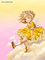 Girl on clouds by LiaSelina
