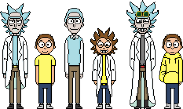 Some more Rick and Mortys by flambeworm370