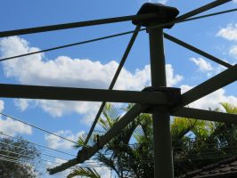 Clouds and clothes line by Axel-is-Sexy-K7