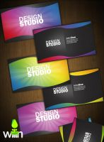 Colorful Business Cards by wilin-art