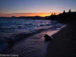 Sun set at Lake Tahoe by MartinGollery