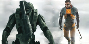 Freeman VS Chief Large by brokendrumstick1