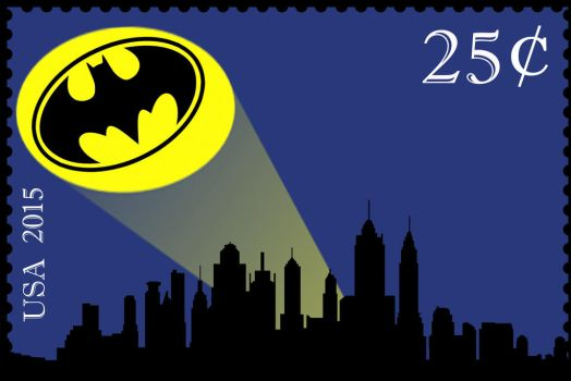 Batman Stamp by harryandhermionefan