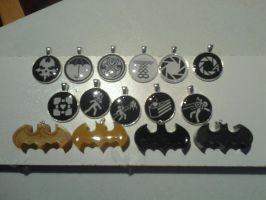 Batman, Portals, and other Resin Necklaces by WolfandSquid