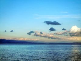Clouds and sea by Leptocyon
