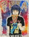 Danny Worsnop loves Pizza by Kagoe