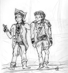 dean and cas are lil piratES by Peanuts-kill