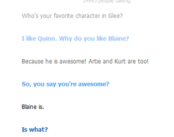 Cleverbot likes Quinn. by Sugerpie56
