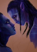 Neytiri and Jake - Avatar WIP2 by ProfelisAurata
