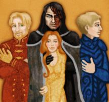 Jaime, Sandor, Sansa and Brienne by Annie-Stuart