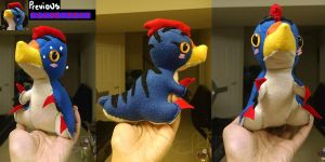 Monster Hunter Plushie: Velocidrome by Zulema