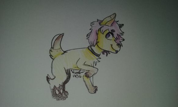 Goth Pup (Art Trade) by Wander1456