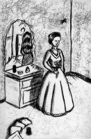 woman and her reflection by stickopotamu