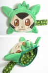 Chespin plush coin purse by aSourLemon