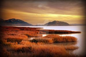 Utah Lake at Sunset South by houstonryan